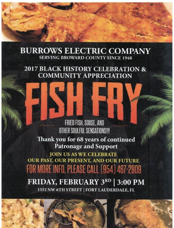 2017 black history celebration fish fry burrows electric company